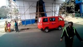 The Power of TATA bus (1512c) showed by kolkata's Public bus 12c/1