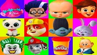 Nick Jr Paw Patrol Mega Board Game with Boss Baby, PJ Masks Surprise Play-Doh | Ellie Sparkles