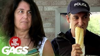 Hungry Cop Eats Stranger