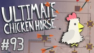 Ultimate Chicken Horse - #93 - Crossbow Factory Challenge!