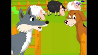Dog and wolf nursery story in English