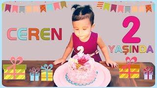 CEREN artık 2 yaşında! Doğum gününü ailece kutladık. Ceren
