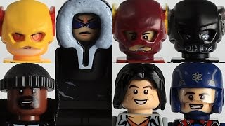 Lego CW Flash custom minifigure showcase: Ft - Arrowverse heroes and villains