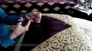 طريقة برم او فتل خيط الطرز الدرس تاني مع ام عمران tarz Arab Embroidery