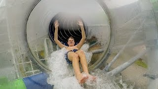 Schwimmzentrum Rendsburg - Röhrenrutsche   Robby Slide Onride POV
