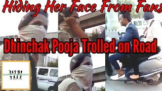Dhinchak Pooja Caught With Her Scooter and Trolled by Her Fans on Road|Funny Video|Must Watch