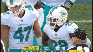 Bobby McCain Ejected for Punching Patriots Players Week 12