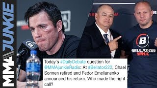 Daily Debate: Chael Sonnen retires, Fedor Emelianenko returns  Who made the right call?