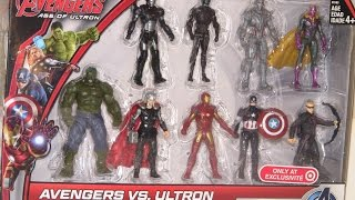 AVENGERS TEAM TOY BOX SET - HULK, IRONMAN, Age of Ultron Action Figures!! 9 pack, Mini Set