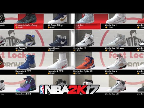 NBA 2K17 All The Shoes NBA2K17Every Shoe In Game Jordans Nikes Adidas More