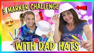 3 MARKER DAD HAT CHALLENGE | We Are The Davises