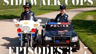 Sidewalk Cops Compilation Video - Episodes 3 - 7 (The Litterer - Superman Texting)