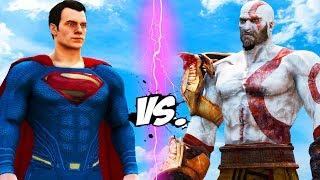 SUPERMAN vs KRATOS - God of War VS Man of Steel