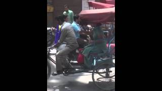 Rikshaw and aunty fighting