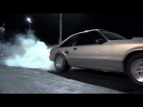 Insane launch 347ci Foxbody Mustang 5 speed Nitrous 9.8 135