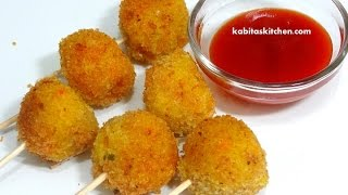 Vegetable Lollipop for Kids-Easy Snack Recipe for Kids-Finger Food Recipe-Quick Vegetarian Starter