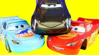 Just4fun290 Changes Wheels On Disney Cars 3 Lightning McQueen Jackson Storm With Tire Rack