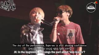 [ENG] 160920 BOMB: BTS' Vocal Duet 'SOPE-ME' Stage behind the scene