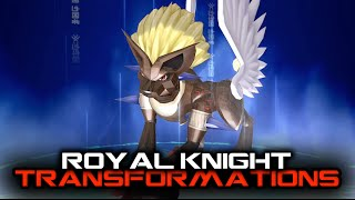 Digimon Story Cyber Sleuth - All Royal Knight Transformations
