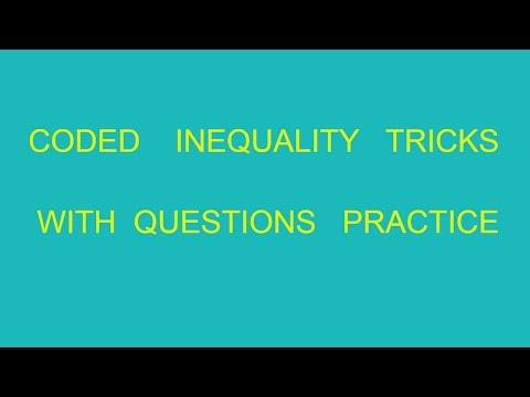 Coded Inequality  Reasoning | Tricks | Bank Po | Part 4 | Reasoning
