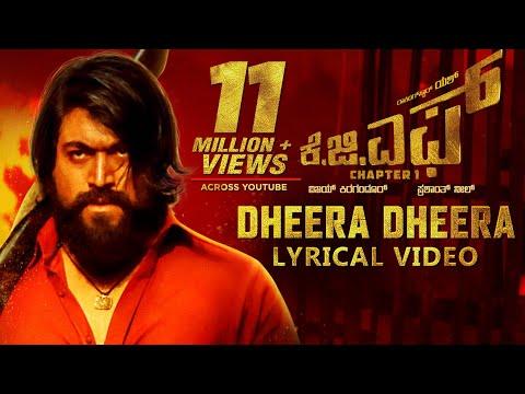 Xxx Mp4 KGF Dheera Dheera Song With Lyrics KGF Kannada Movie Yash Prashanth Neel Hombale Kgf Songs 3gp Sex