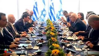 PM Netanyahu and Greek PM Tsipras at Israel-Greece G2G Meeting