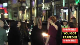 Sophie Turner  leaving the Game Of Thrones Premiere at TCL Chinese Theatre in Hollywood