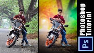 Photoshop Tutorial | How to Edit Outdoor Portrait | ( Blur & Color Background ) my technique