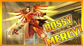 Bossy Girl Gamer As Mercy! (OVERWATCH COMPETITIVE)