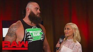 Braun Strowman addresses the Triple Threat Matches: Raw, July 16, 2018