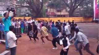 citydreams dance company performs a flash mob with abcd filim acter paulson and 70 dancers
