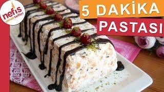 5 Dakika Pastası - Bisküvili Kolay Pasta Tarifi