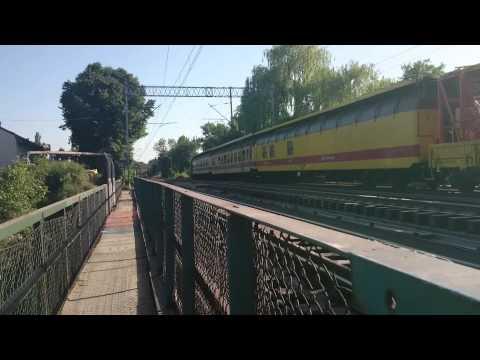 Nowa lokomotywa SM42 z pociągiem roboczym oraz EU07 InterCity  + kilka rp1