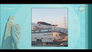 """8 الصبح - رامي رضوان يعرض صورة لآخر التجاوزات الغريبة على الطريق ويعلق"""" دي درجة من الجنان """""""