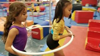 MARCUS AND LUCAS'S LITTLE SISTER PLAY DATE WITH NELLIE AT DOBRE GYM!!!
