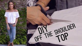 DIY Off The Shoulder Bardot Top (STYLEWIRE)