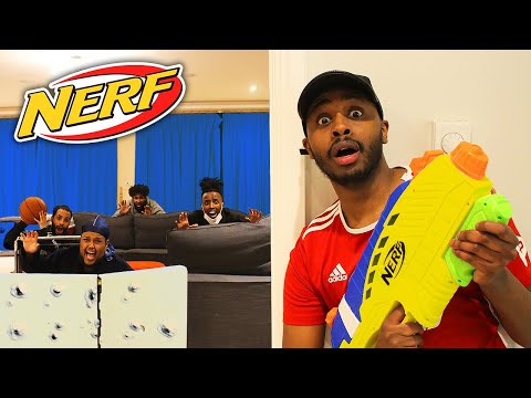 NERF HIDE AND SEEK IN £3 000 000 BETA SQUAD MANSION