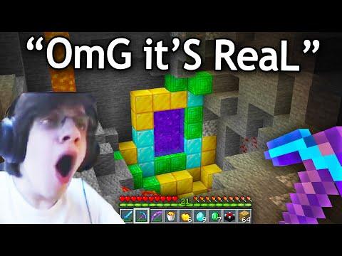 Reacting to The FUNNIEST FAKE Minecraft Speedruns 1
