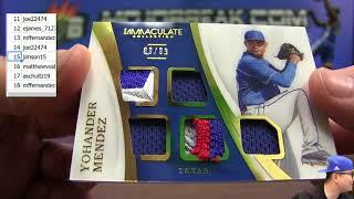 8/18 - 2017 Immaculate Baseball 8 Box Case Break Random Number #1