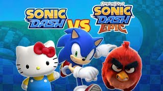 Sonic Dash: Sonic vs Hello Kitty vs Angry Birds Crossovers (60fps)