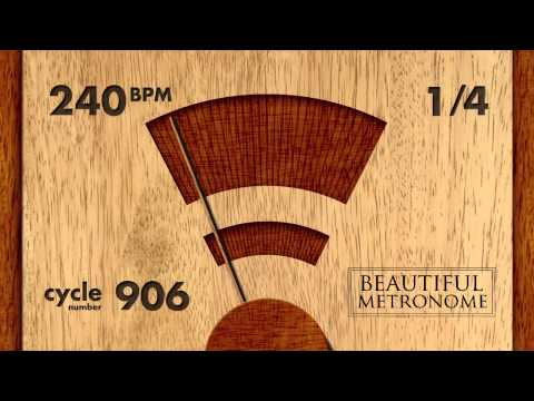 240 BPM 1/4 Wood Metronome HD