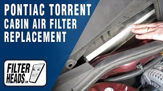 How to Replace Cabin Air Filter Pontiac Torrent