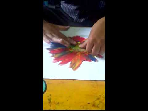 Berkreasi dengan tehnik Usap Abur untuk anak usia dini
