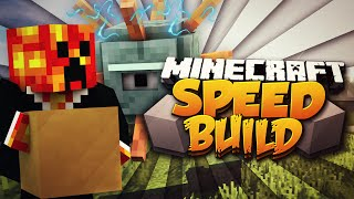 Minecraft SPEED BUILDER! (BUILD OR BE KILLED!) #1 w/PrestonPlayz
