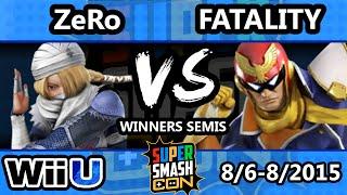 Super Smash Con - Fatality (Captain Falcon) Vs. ZeRo (Diddy Kong) - Winners Semis - Smash Wii U