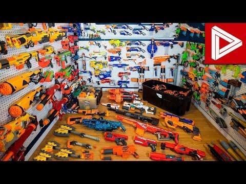 Top 10 CRAZY Nerf Gun Collections & Nerf Gun Arsenals