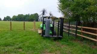 Field, Estate, Stock and Equestrian wire fencing with an Avant Loader - Demo