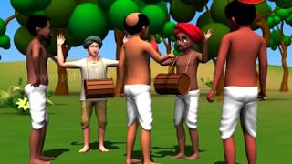 Panchatantra Tales in Marathi For Children | The Drummer | पंचतंत्र मराठी गोष्टी | Moral Stories