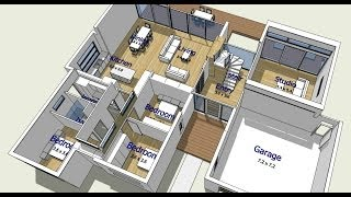 Design Your Own House.  An Introduction to TreblD and SketchUp Tutorials. Part 1