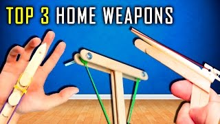 Top 3 Homemade Weapons (Popsicle Sticks)